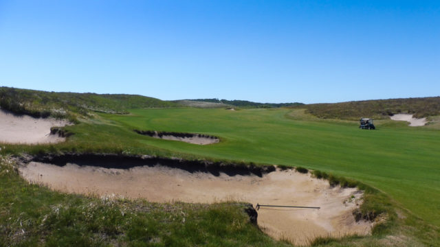 The 5th fairway at Ocean Dunes