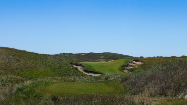 The 8th tee at Ocean Dunes
