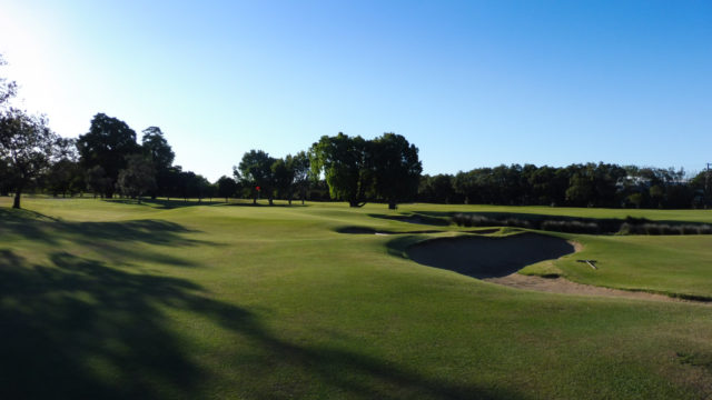 The 12th green at Royal Queensland Golf Club