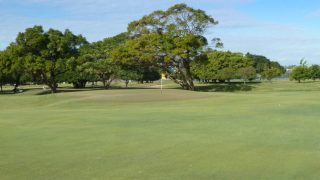 The 13th green at Royal Queensland Golf Club