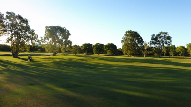 The 14th green at Royal Queensland Golf Club
