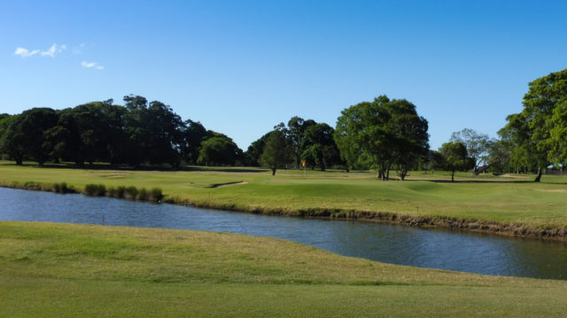 The 15th green at Royal Queensland Golf Club