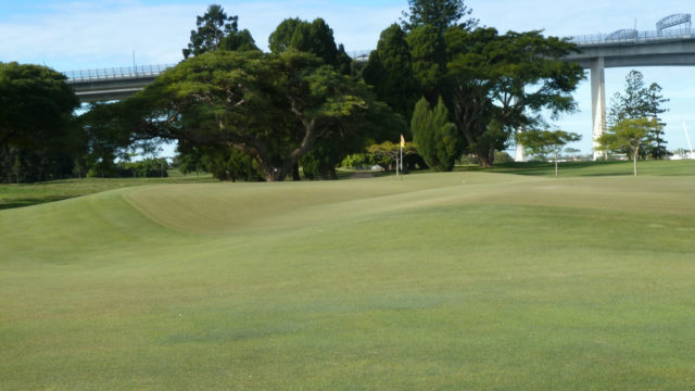 The 16th green at Royal Queensland Golf Club