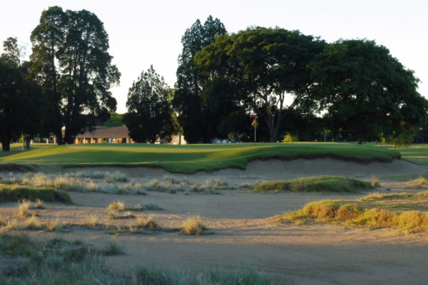 The 17th green at Royal Queensland Golf Club