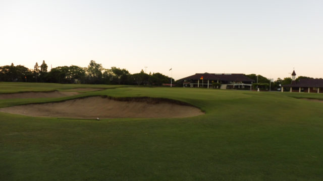 The 18th green at Royal Queensland Golf Club