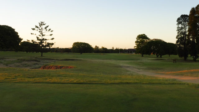 The 18th tee at Royal Queensland Golf Club