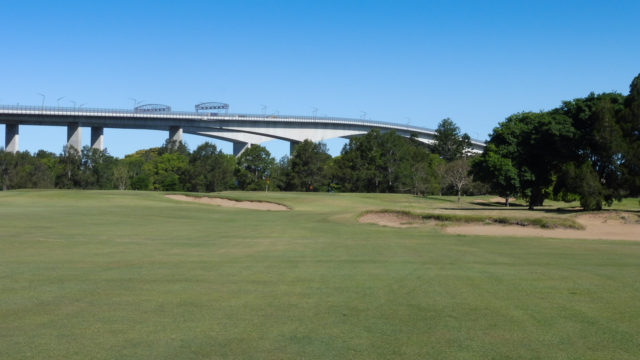 The 1st fairway at Royal Queensland Golf Club
