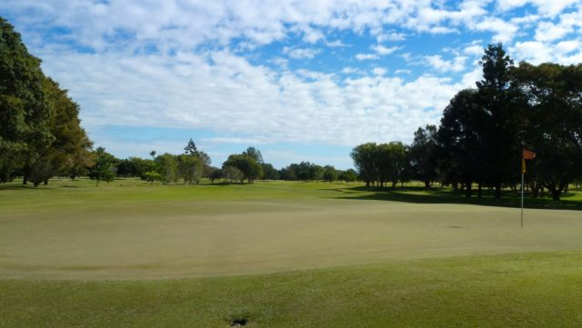 The 4th green at Royal Queensland Golf Club