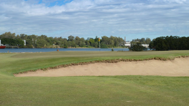 The 5th green at Royal Queensland Golf Club