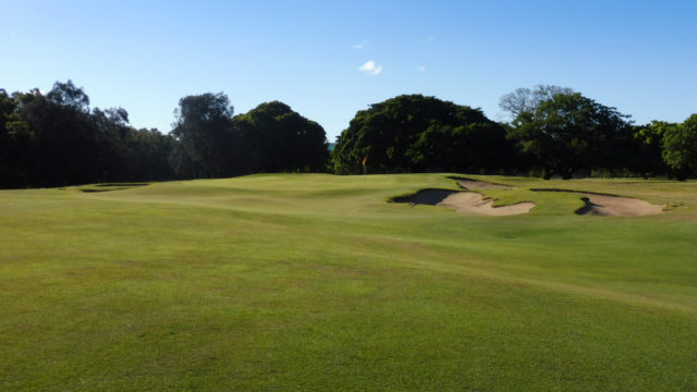 The 7th green at Royal Queensland Golf Club