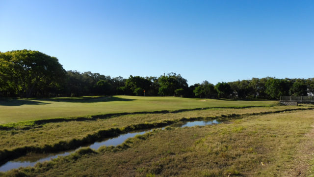 The 8th green at Royal Queensland Golf Club