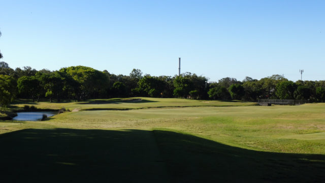 The 8th tee at Royal Queensland Golf Club