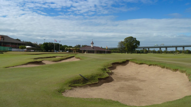 The 9th green at Royal Queensland Golf Club