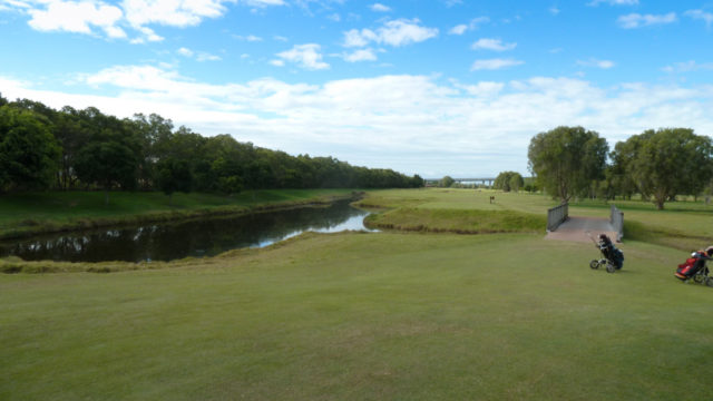 Th 9th tee at Royal Queensland Golf Club