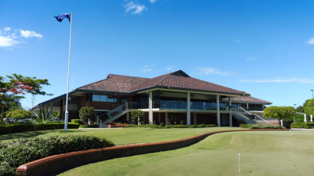 The clubhouse at Royal Queensland Golf Club