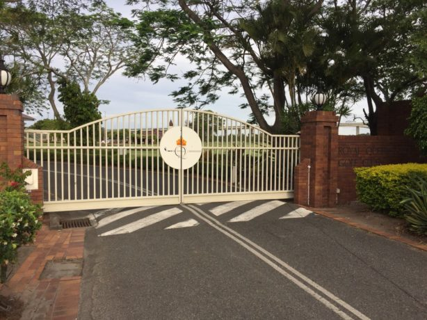 The entrance to Royal Queensland Golf Club