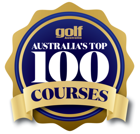2018 Top 100 logo for Golf Australia Magazine