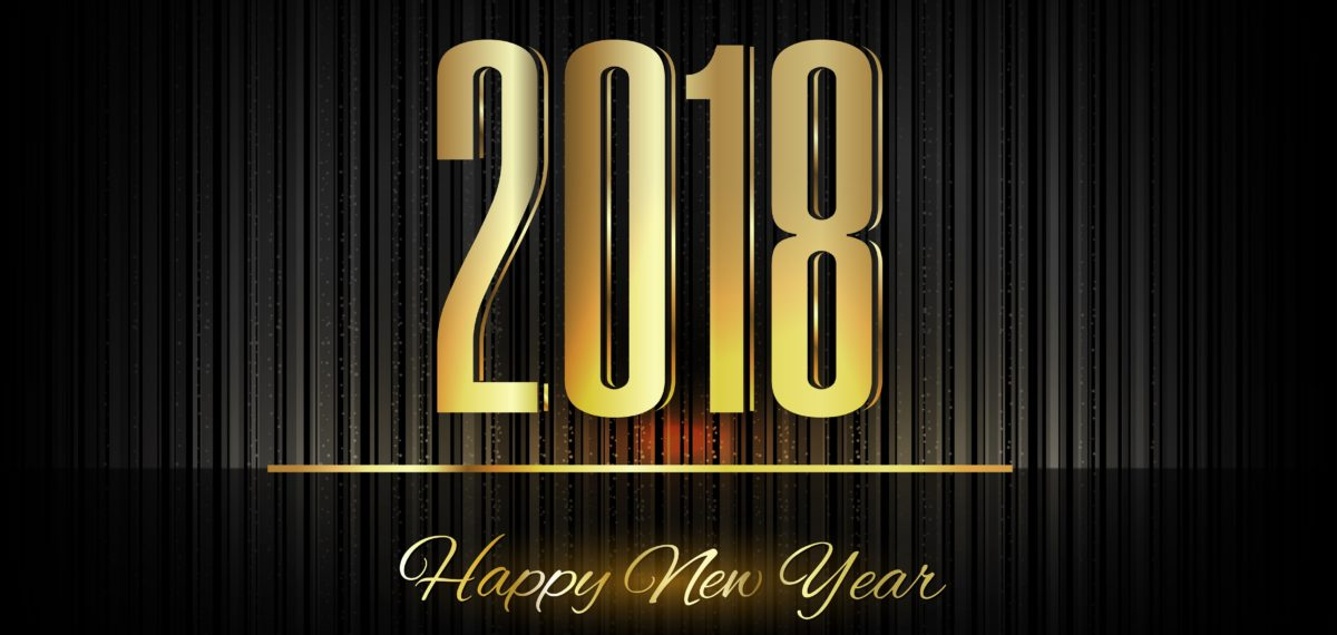 2018 sign for Happy New Year