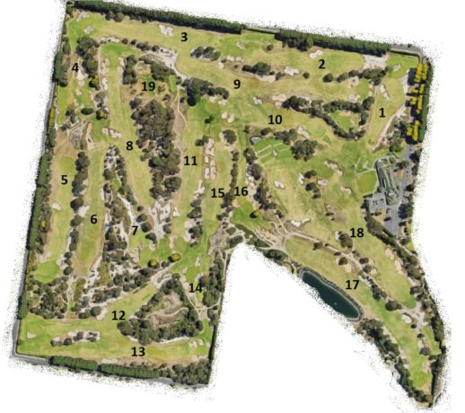 Map of Victoria Golf Club